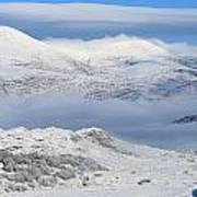 Snow Covered Landscape In Winter Near Art Print