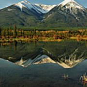 Snow Covered Peaks Of Canadian Rockies Art Print