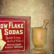Snow Flake Soda Crackers Art Print