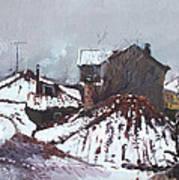 Snow In Elbasan Art Print