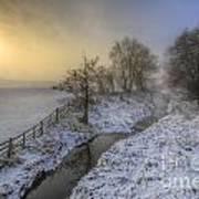 Snow Landscape Sunrise 2.0 Art Print