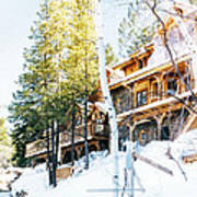 Snow Lodge Art Print
