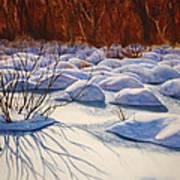 Snow Mounds Art Print by Daydre Hamilton