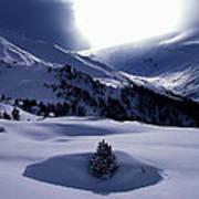 Snow Mountain Austria  Art Print