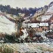 Snow Near Falaise Art Print
