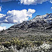 Snow On The Superstitions  Art Print