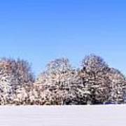 Snow Panoramic Landscape Art Print
