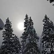 Snow Sun Art Print
