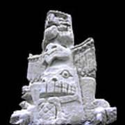 Snow Totem Pole Art Print