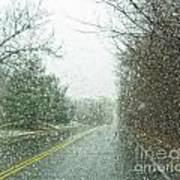 Snowing Morning Art Print