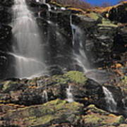 Snowmelt Waterfalls In Tuckermans Ravine Art Print