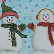 Snowmen 2 Art Print