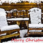 Snowy Coffee Holiday Card Art Print