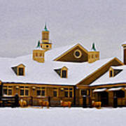 Snowy Day At Erdenheim Farm Art Print