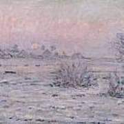 Snowy Landscape At Twilight Art Print