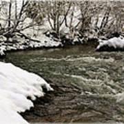 Snowy Mountain River Art Print