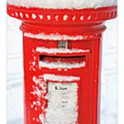 Snowy Pillar Box Art Print