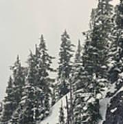 Snowy Ridge Near Snoqualmie Pass Art Print