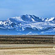 Snowy Rockies Art Print