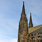 Soaring Spires Saint Vitus' Cathedral Prague Art Print by Christine Till