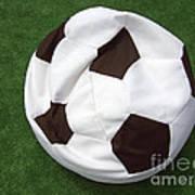 Soccer Ball Seat Cushion Art Print