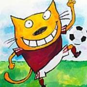Soccer Cat 2 Art Print