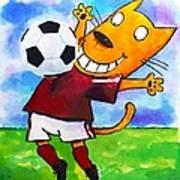 Soccer Cat 3 Art Print