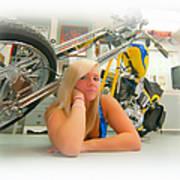 Soft N Sweet Harley Chopper  Art Print