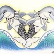 Soga'imiti Dolphins Art Print