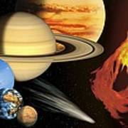 Solar System, Artwork Art Print