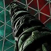 Solarised Totem Pole Art Print