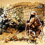 Soldiers On The Wall Art Print