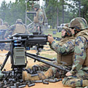 Soldiers Operate A Mk-19 Grenade Art Print by Stocktrek Images
