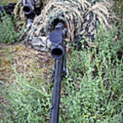 Soldiers Practice Sniper Skills Art Print
