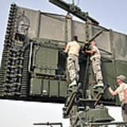 Soldiers Set Up A Tps-75 Radar Art Print
