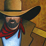 Solo Cowboy Art Print