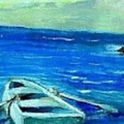 Solo Rowboat Art Print