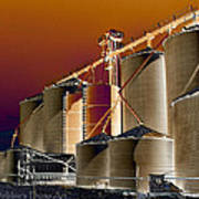 Soloized Grain Bins Art Print