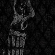 Sombre Skull Art Print