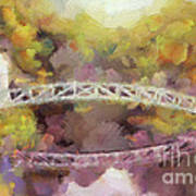 Somes Bridge - Somesville Maine Art Print