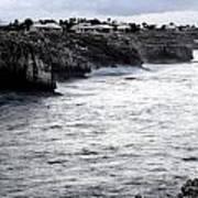 Menorca South Coast In A Stormy Mediterranean Day Art Print