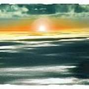 South Pacific Sunset Art Print