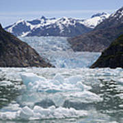 South Sawyer Glacier And Bay Full Art Print