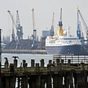 Southampton Old Pier And Docks Art Print by Jane Rix