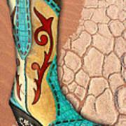 Southwest Snakeskin Boots Art Print