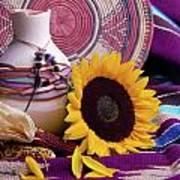 Southwestern Still Life With Sunflower Art Print