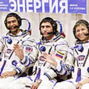 Soyuz Tma-11 Space Crew Art Print