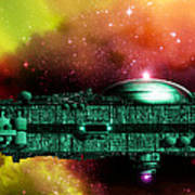 Space Ark Art Print by Victor Habbick Visions