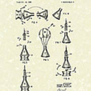 Space Capsule 1961 Patent Art #2 Art Print by Prior Art Design