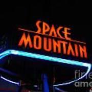 Space Mountain Sign Magic Kingdom Walt Disney World Prints Art Print